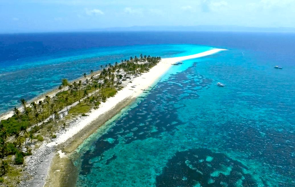 Calanggaman Island Leyte Philippinen