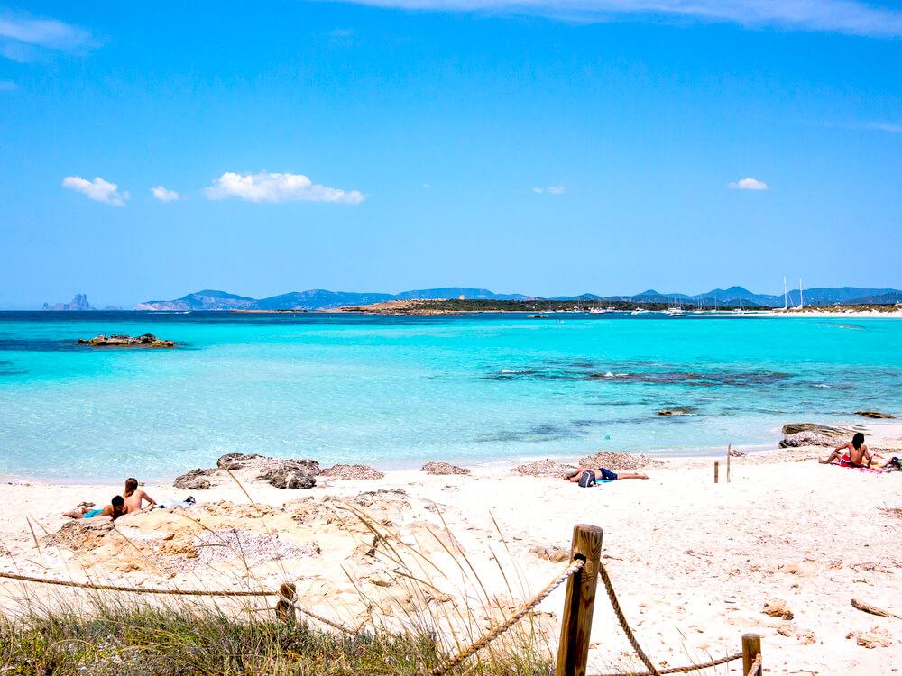 Playa de ses Illetes Formentera Spanien