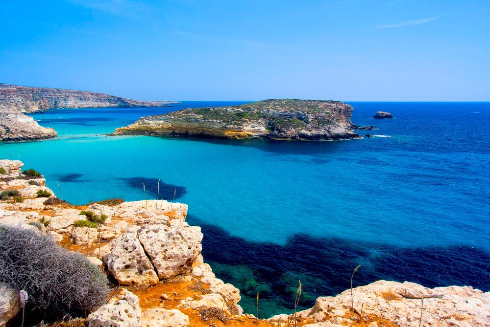 Spiaggia dei Conigli Lampedusa Italien