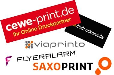 Die besten Online-Druckereien – Flyer, Fotobücher, Broschüren
