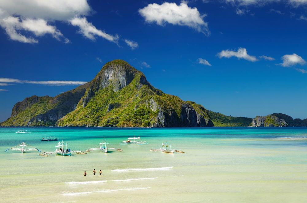Philippinen El Nido Bucht Cadlao Palawan
