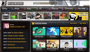 Newgrounds Spielewebseiten im Netz
